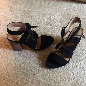 Merona Shoes - Size 6, worn once Merona lace up wedge